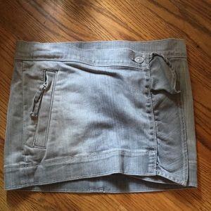 7 for all mankind gray denim mini skirt